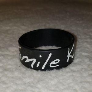 We the Kings Smile Kid Rubber Bracelet